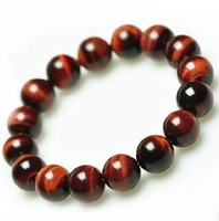 Natural Red Tiger Eye Bracelet 6mm-12mm Meditation Mala Grounding Stone Protection