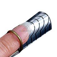 W7Tn 10 Pcs Environmental Reusable Tool For Acrylic Nail Art Nail Forms