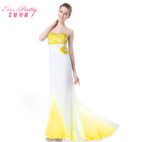 Betty elegant tube top evening dress long train design slim evening dress banquet dress 2014 dress vestido de festa  lace