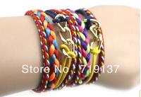 Free Shipping Retail/Wholesale 2013 new design Brazilian Style Colorful Hipanema Bracelet 2pcs/lot color at random