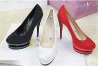Hot 2013 fashion brand platform ultra Diamond high heels women pumps and women's Diamond platform shoes size 35-41