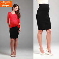 2013 new fashion lady elegant pregnant short skirt  fashion OL classic black pregnant women skirt maternity half-skirt