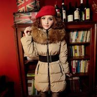 New 2013 femaledown jacket,women long down jacket f,winter clothing for women, fur coat top quality