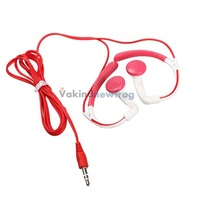 Ear Hook Headphones Sport 3.5mm Plug Headphone for MP3 MP4 Player White V3NF