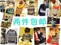 National 2013 trend lovers sweater outerwear thin sweater male