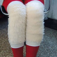 Fashion knee thermal general cold-proof artificial wool cashmere plus velvet thickening kneepad thermal