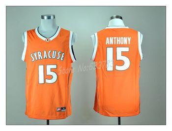 Free Shipping! NCAA College Basketball Jerseys #15 Camelo Anthony  jersey Revolution 30 Swingman  Basketball jersey