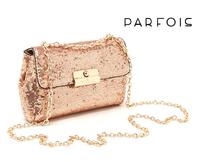 Spain Parfois bag sweet elegant ladies elegant powder paillette chain small shoulder bag messenger bag  Free shipping(5pcs/pack)