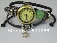 GENUINE Cow Leather Watches,Hand-Made Retro Watch,Fashion Tortoise Pendant Beads Gift Watch . TOP Quality. Free shipping