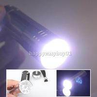 New Silver Mini Flashlight 9 LED Small Hand Torch H1E1