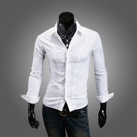 Male good slim three-dimensional cut shirt 510p35