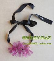 Marni fashion necklace romantic flower lacing necklace three-color