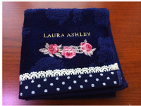 Free Shipping 100% Cotton Hand Towel Laura Ashley Rowland  Elegant Rustic lace Exquisite Small Towel Facecloth
