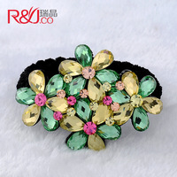 Flower hair accessory hair maker glass crystal hair accessory headband tousheng horseshoers hair rope