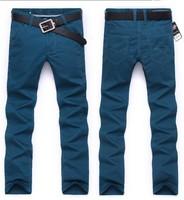 2014 Colors Men Designer Brand Pants Fashion Casual Slim Custom Fit Denim Pencil Jeans best price