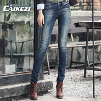Free shipping Spring jeans female skinny pants women's
