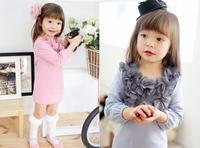 free shipping Baby girl dress Children dress long sleeve dress, children autumn clothes