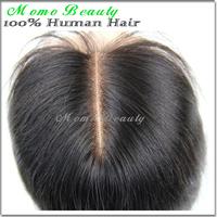 "100% Brazilian Virgin Human hair closure, Top lace closure bleached knots  middle part lace closure 5*5"" silk straight"
