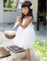 2013 summer burst female children's clothing Korean angel white rose dress princess dress tutu girls dress