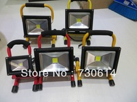 Wholesale 10pcs/lot 20W LED Rechargeable floodlight,  warm/cool white portable working Flood light outdoor emergency lamp