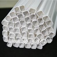 50pcs 10.0mm*10.0mm square tube ABS Plastic pipe JFG-8.0* 50cm length
