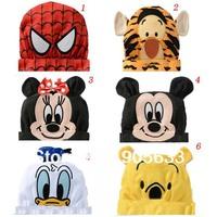 Free shipping , children's baby cartoon style cotton round cap 6 ,
