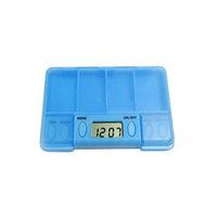 12pcs/lot storage case for medicine box E-kit alarum e-kit timer kit square  pill timer dispenser