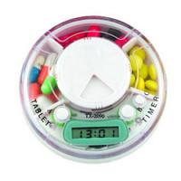 12pcs/lot storage case for medicine box Electronic timer kit convenient kit portable kit  pill timer dispenser