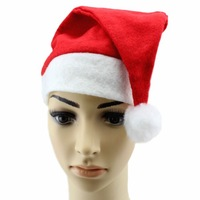 Best Price Wholesale 100PCS/ Lot 2013 NEW Year Gifts Christmas Hat For Adults Winter Santa Hat Red In Stock