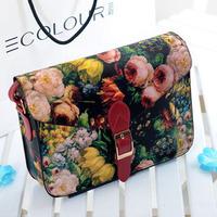 Fashion personality vintage oil painting bag printing small bags messenger bag cross-body new 2013 women's handbag