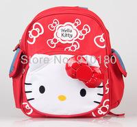 New arrivals good quality Children's Cartoon baby girls hello kitty zipper shoulder kids School bag backpacks bookbags