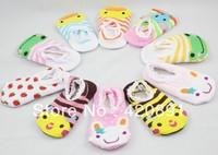 Free shipping 10pairs/lot Unisex Baby Kids Toddler Girl Boy Anti-Slip Socks Shoes Slipper(Mix various styles)