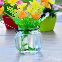 Mini pumpkin small vase hanging vase hydroponic decoration home decoration/glass decorative bottle