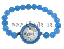 Free shipping!!!Fashion Watch Bracelet,Womens Jewelry Fashion, Jade, with Zinc Alloy, platinum color plated, 32x29x9.5mm, 8mm