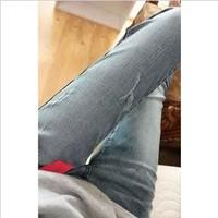 2013 autumn fornarina quality primary color elastic denim skinny jeans female
