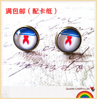 Hot  Sale   (30 pair /lot) Sweet sailor suit time gem stud earring earrings earring handmade accessories 149