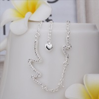 New Arrival!!Wholesale Sterling 925 Silver Anklets,925 Silver Fashion Jewelry,Bending Waves Anklets SMTA028