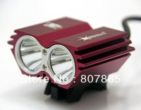 3000Lumen 2 X CREE T6 Owl Bicycle Light Bike Lamp Power By 4 x 18650 Batteries Pack Free Shipping