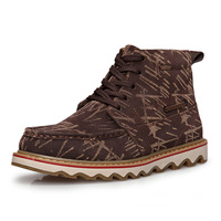 Outdoor boots 2013 plus velvet winter thermal men's boots fashion Camouflage boots unique shoes martin boots male