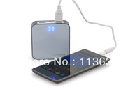 High Quality solar charger with Two USB port portable solar battary Charger 7800mAh 7 adaptor tips