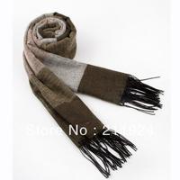 free shipping 2013 tassel patchwork thermal cashmere male scarf ultra long wide super warm winter stripe gentlemen 77
