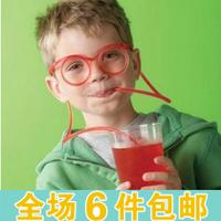 Cartoon diy straw interesting funny glasses straw