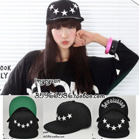 Five-pointed star stars hiphop skateboard baseball cap hip-hop cap embroidery
