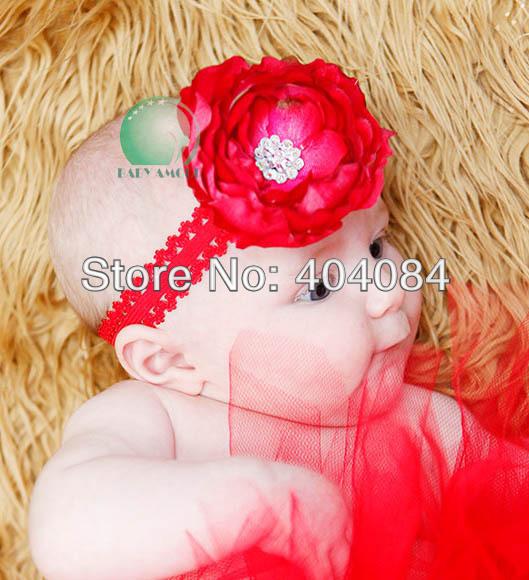 Новый ребенок Амур повязки большой цветок