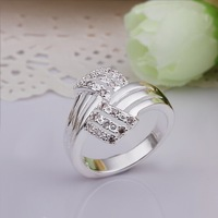 Hot Sell!Wholesale Sterling 925 silver ring,925 silver fashion jewelry ring,Fashion Exquisite Crystal Paved Finger Rings SMTR259