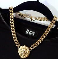 (Minimum order $10) 2014 new Lion avatar thick collarbone chain necklace fashion jewelry women fashion jewelry