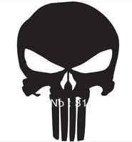 "Free shipping  (100 pieces / lot ) Wholesale 5"" The Punisher Skull Vinyl Decal Car Window Sticker Marvel Comics"