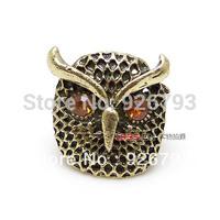 Wholesale 12pcs/lot   Classic   Fashion  Retro pop owl  rings