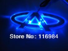 Free shipping!! Car Emblem LED Trunk Hood Background Light For Chery E5 14.5 x 4cm(China (Mainland))