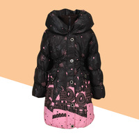 New 2013 Child down coat red fairy star female child long design b09  Free shipping